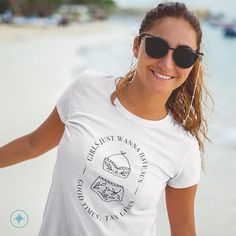This t-shirt is everything you've dreamed of and more. It's comfortable and flattering for both men and women. Hygge, Fabric Weights, Good Times, Sun, T Shirts For Women, Stitch, Girls, Cotton, Life