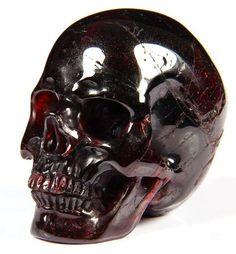 Garnet carved skull - from Skullis on ebay