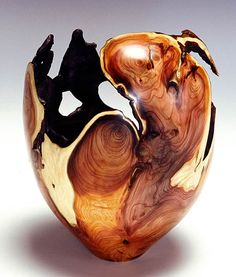woodturnings: English Yew Root Hollow Vessel