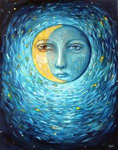 Dark Side by Felicia Olin (moon painting)