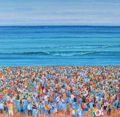 La espera – Belén Eizaguirre Alvear Oil On Canvas, Beaches, Illusions, Canvases, Art