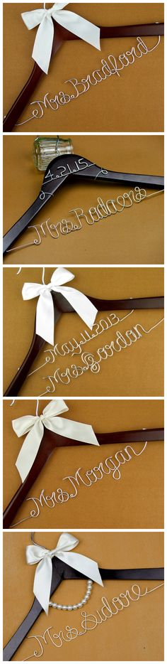 35 best diy wedding hangers images on pinterest bridesmaid dress wire name wedding hangers are great wedding gifts its wedding season now you need solutioingenieria Images