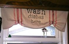 Kitchen Drop Cloth Valance