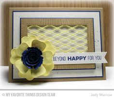 Fishnet Cover-Up Die-namics, Fishtail Flags STAX Die-namics, Hybrid Heirloom Rose Die-namics, Royal Rose Die-namics, Stitched Rectangle Frames Die-namics, Totally Happy, Woodgrain Background - Jody Morrow  #mftstamps