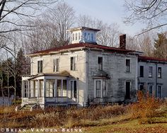 Old home in Readfield, Maine...with some work this home has great potential. I love the little tower on the top