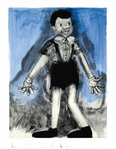 Jim Dine - Pinocchio Living in Blue Wash