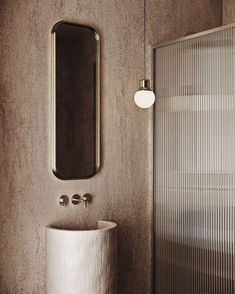 Bathroom inspo by Love the textured glass shower wall. Glass Bathroom, Bathroom Inspo, Glass Shower, Bathroom Inspiration, Modern Bathroom, Bathroom Showers, Beautiful Bathrooms, Bathroom Lighting, Reeded Glass