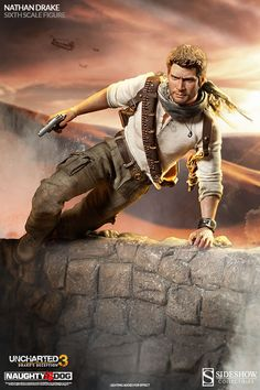 Sideshow Collectibles is going to be honoring the hero of Uncharted 3 by offering a Nathan Drake sixth scale figure! The Nathan Drake scale figure Playstation, Uncharted Series, Nathan Drake, Adventure Outfit, Male Cosplay, Sideshow Collectibles, Action Poses, Comic Character, Best Games