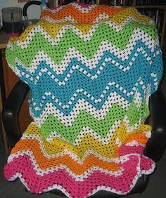 Granny Ripple Baby Blanket