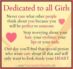 Dedicated to ALL females.