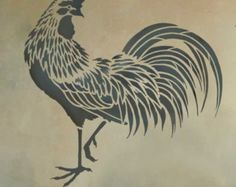 Rooster Stencil - Easy reusable stencils for DIY decor