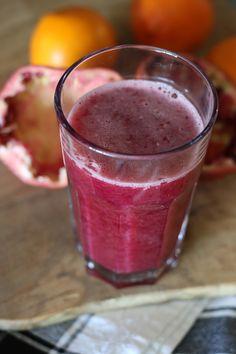 Pomegranate and orange juice!