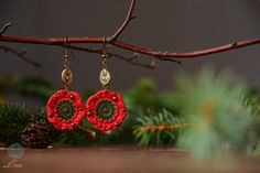 Channah Earrings  Handmade Jewelry  Crochet Flowers Earrings