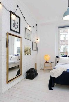Wonderful Cool Ideas: Minimalist Bedroom Storage Walks minimalist decor minimalism home.Industrial Minimalist Bedroom Window minimalist home organization bookshelves.Cozy Minimalist Home Headboards. Home Bedroom, Bedroom Decor, Dream Bedroom, Bedroom Lighting, Modern Bedroom, Bedroom Wall, Mirror Bedroom, Master Bedroom, Wall Lighting