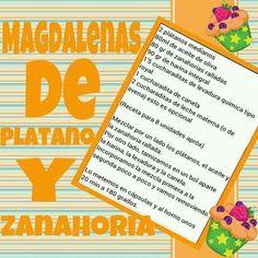 Magdalenas de platano y zanahoria