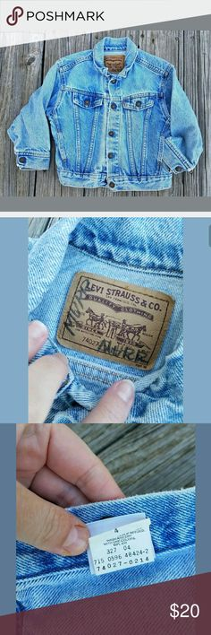 Levis Vintage Jean Denim Jacket 4T Girls Boys This is in good vintage used condition Levi's Jackets & Coats Jean Jackets