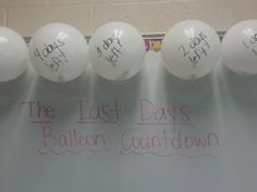 Balloon Popping Our Way to the End of the Year...activity inside each balloon