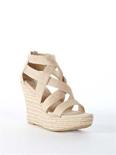 From @DKNY For all day comfort and a great neutral: Kassy Multi Strap Espadrille