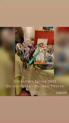 Glitterfest 2021 - @glitterfestlove The Rock, Mixed Media Art, Mixed Media, Rock