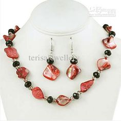 Wholesale cheap shell online, bracelet & necklace - Find best bright coral orange chunky summer shell necklace earrings jewelry set black crystal accents 18inch at discount prices from Chinese bracelet & necklace supplier on DHgate.com.