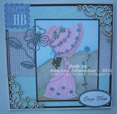 Here's a card I have made with an image from Julia Spiri . The name of the image is '' from 'The hat collection'. Carpe Diem, Happy Birthday, Frame, Cards, Decor, Happy Brithday, Picture Frame, Decoration, Urari La Multi Ani