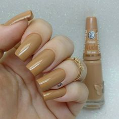 "1,719 curtidas, 16 comentários - Fernanda Costa (@nailfe) no Instagram: ""Esmalte Só Love @ludurana você encontra na @_casadoesmalte. . ✔Apliquei 2 camadas ✔Secagem rápida…"" Elegant Nails, Classy Nails, Stylish Nails, Fabulous Nails, Perfect Nails, Nail Paint Shades, Manicure E Pedicure, Dream Nails, Nail Swag"
