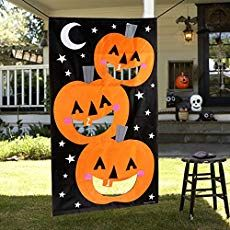 OurWarm Pumpkin Bean Bag Toss Game + 3 Bean Bags Halloween Games for Families with Kids Travel Games Halloween Party Favours Halloween Carnival Games, Halloween Games For Kids, Halloween Party Favors, Halloween Door Decorations, Kids Party Decorations, Halloween Activities, Halloween Crafts, Ideas Party, Youth Activities