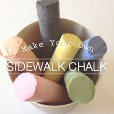 » Make Your Own Sidewalk Chalk! Kui ma välja mõtlen, mis on plaster of paris