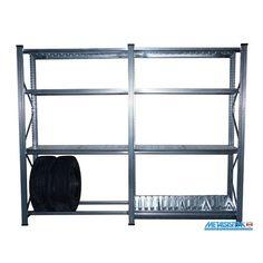 Hilicom I-616983802823 Metalsistem Unirack Heavy-Duty Garage Shelving Kit with Add-On Unit