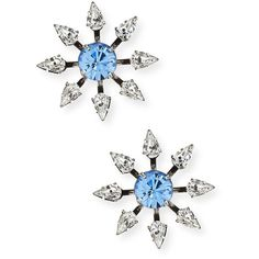Dannijo Constantina Crystal Stud Earrings ($220) ❤ liked on Polyvore featuring jewelry, earrings, light sapphire, dannijo, dannijo earrings, oxidized jewelry, earrings jewelry и clear earrings