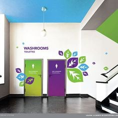 New Educational Space ideas Office Signage, Office Branding, Wayfinding Signage, Signage Design, School Signage, Office Wall Graphics, Environmental Graphic Design, Environmental Graphics, Kindergarten Design