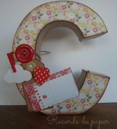letras para decorar habitación infantil, handmade, scrapbooking paper