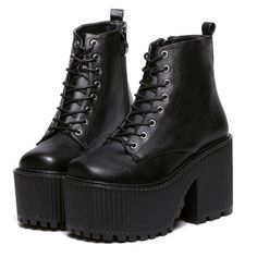 Buy women's boots winter fashion platform high heeled boots ladies ankle boots punk rock motorcycle black platform shoes in the category Boots and boots on AliExpress. High Heel Boots, Heeled Boots, Shoe Boots, High Heels, Galaxy Converse, Grunge Shoes, Grunge Outfits, Simpsons, Gothic Shoes