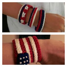 [Video Tutorial] Celebrate Independence Day With These 4th Of July American Flag Bracelet And Cuff - http://www.dailycrochet.com/video-tutorial-celebrate-independence-day-with-this-4th-of-july-american-flag-bracelet-and-cuff/