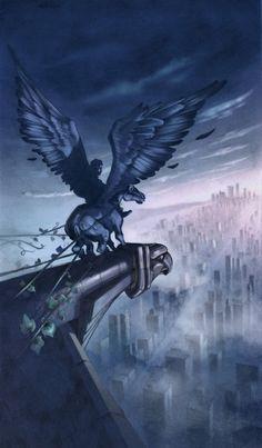 "John Rocco Art; Cover of ""The Titan's Curse"" by Rick Riordan"