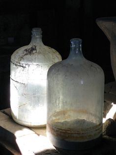 Wonderful Aged-Weathered Bottles (Great Accent for any Space)