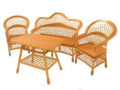 Плетеная мебель, мебель для столовой, плетение из газетных трубочек
