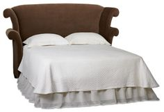 Love Wingback Upholstered Headboard with arms - just not curly arms