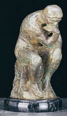 The Thinker Bronzed Metal Sculpture T.P.