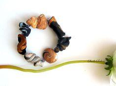ARTISAN  JEWELRY Polymerclay BRACELET   bronze by StudioSabine, $35.00