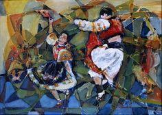 Ľubomír Korenko, Radosť z tanca, Kombinovaná technika na platne,70x50 cm, 170 €