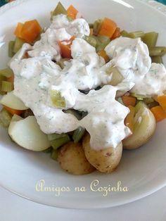 Amigos na Cozinha: Macedónia de legumes com creme aromatizado