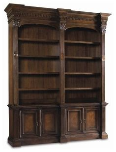 Hooker European Renaissance II Double Bookcase modern bookcases cabinets and computer armoires