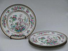 vintage royal doulton china patterns | India/Indian Tree, antique vintage Royal Doulton china salad plates