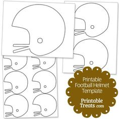 Here is a really cute printable football helmet template you can use to cheer your favorite team on come Fall. This printable football helmet template is great for creating team posters and Football Banquet, Youth Football, Football Players, Football Helmets, Football Awards, Alabama Football, College Football, Team Mom Football, Football Player Gifts