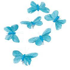 Papillon Bleu Turquoise X6 Decorations De Table De Fete Bleu Turquoise Decoration Table Mariage