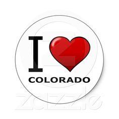 I LOVE COLORADO STICKERS from Zazzle.com