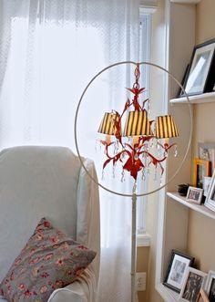 chandelier in bird cage holder