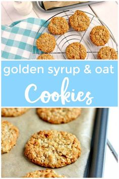 Golden Syrup and Oat Cookies An easy egg free Golden Syrup and Oat Cookie recipe Oat Biscuit Recipe, Cookie Recipe Uk, Easy Cookie Recipes, Sweet Recipes, Dessert Recipes, Kids Biscuit Recipes, Sugar Biscuits Recipe, Baking Recipes Uk, Sugar Free Biscuits