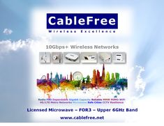 Upper 6ghz Cablefree For3 Is Ideal For Long Distance Backbone Links Isps